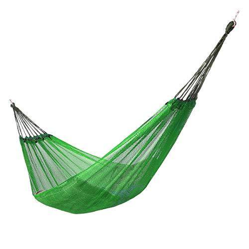 LOGO Hamaca de Turismo Silla Colgante portátil oscilación Silla de Camping Cama Colgante con Bolso al Aire Libre Muebles de 4 Colores (Color : Green)