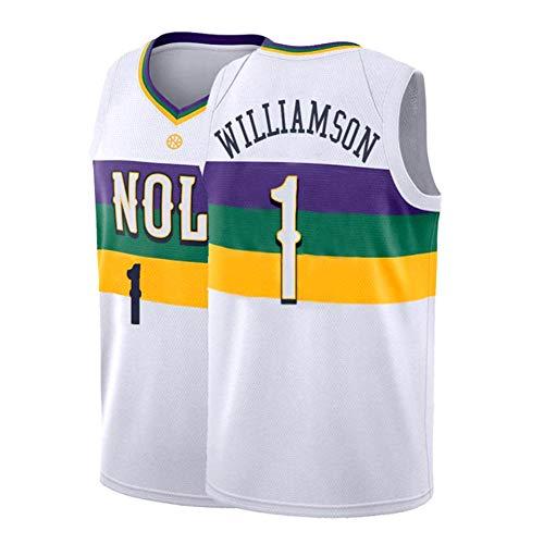 LUCKY Progetto Popolare Pick NBA Orleans Pellicani # 1 Sion - College Basketball Jersey Maschile Uniformi Williamson Pallacanestro Jersey,#1 City Version,M