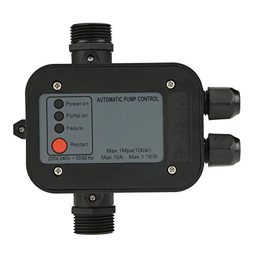 220V 50/60HZ Control Electrónico Automático del Interruptor de la Bomba de Agua Controlador de Presión Negro para la Bomba de Agua Autocebante