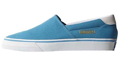 adidas Originals Adidrill VULC Canvas Schuhe Slipper Ballerina Sneaker Blau/Weiß, Schuhgröße:EUR 37