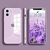 YIJIAYOUNG Crystal Clear Designed for iPhone 11 Case Liquid Glass Phone case Ultra-Thin Mobile Phone case All-Inclusive Lens Design(6.1) (Purple)