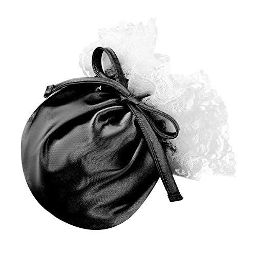 iEFiEL Herren C-String Spitze Thong Sissy Dessous Unsichtbare Unterwäsche Beutel Höschen Männer String Tanga Micro Bikini Slip Bulge Pouch Schwarz Einheitsgröße