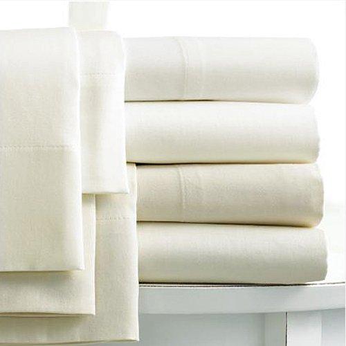 Linens Limited Spannbettlaken - Extrahoch, ägypt. Baumwolle, FZ 400 - Creme - 180 x 200cm