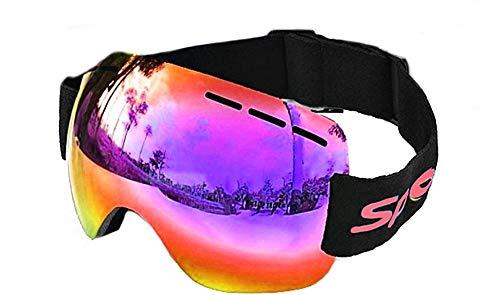 Lovelegis Gafas de Snowboard Hombre - pasamontañas - Espejo - protección UV OTG - Anti Niebla - Transpirable - Color Rojo - Idea de Regalo de cumpleaños
