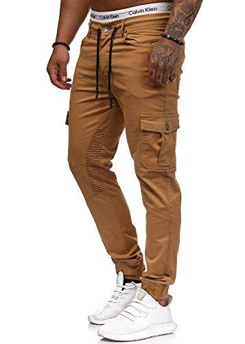 OneRedox Herren Chino Pants | Jeans | Skinny Fit | Modell 3207 Beige 34/32
