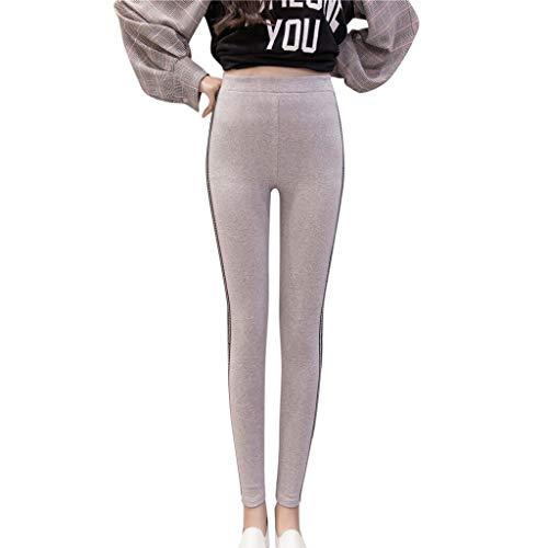 Pantalones de Yoga de algodón con Letras a Rayas, Mallas de Gimnasio, Mallas Deportivas para Mujer, Mallas de Gimnasio sin Costuras, XXXL Blanco