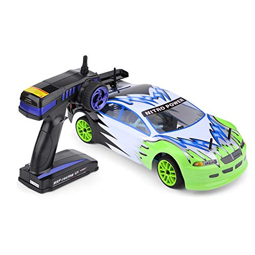 Tbest Coche RC, Coche de Campo a través RC a Gasolina con tracción en Las Cuatro Ruedas para Coche Modelo de Control Remoto a Escala 1/10