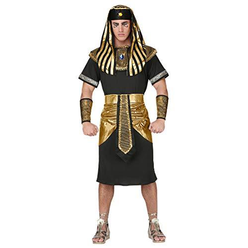 widmann srl-grp07941vd disfraz faraón de hombre para Adultos, Negro, pequeño, grp07941vd