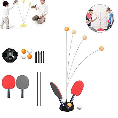 YYHOUS Entrenador Tenis Mesa con Eje Elástico, Entrenamiento Pelota Ping Pong Entrenador Rebote Juguete para Niños Casa Ocio Descompresión Deportes para Ejercicio Personal Doble, 35.4In