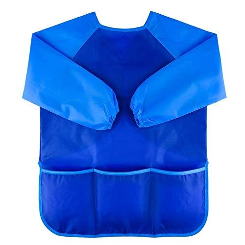 Wawhy schilderschort, 2-6 jaar, waterbestendig, schilderkittel voor kinderen, lange mouwen, blouse voor kinderen, blauw