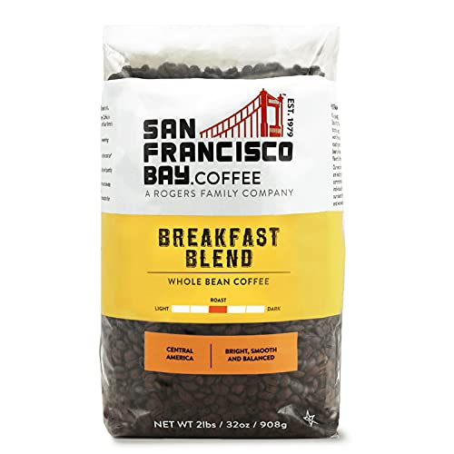 SAN FRANCISCO BAY SF Coffee Whole Bean 2LB Medium Roast, Breakfast Blend, 32 Ounce
