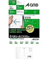 エーワン レーザープリンタラベル 1面20入 2個セット + 画材屋ドットコム ポストカードA