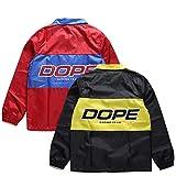 【D0218-J313】 ドープ DOPE コーチジャケット ナイロンジャケット アウター 長袖 ボタンアップ 大きいサイズ M レッド