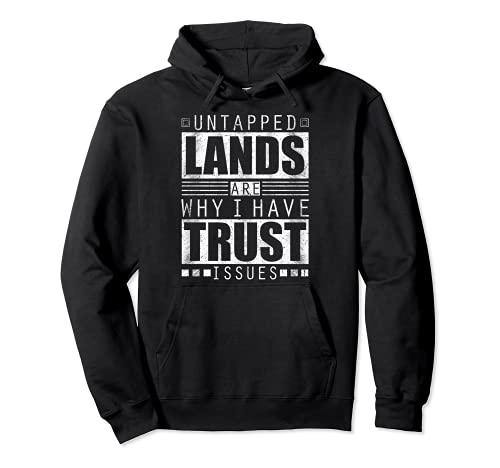 Untapped Lands Trust Issues Magic Geek トレーディングカードゲーム ファン パーカー