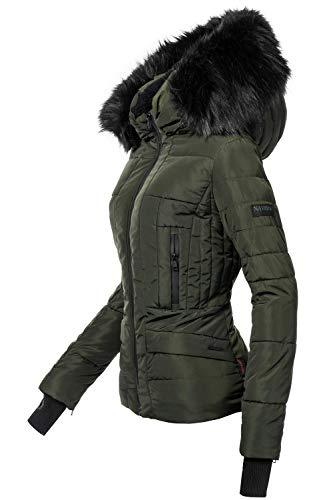 Navahoo Damen Winter Jacke Steppjacke Adele Grün Gr. XS