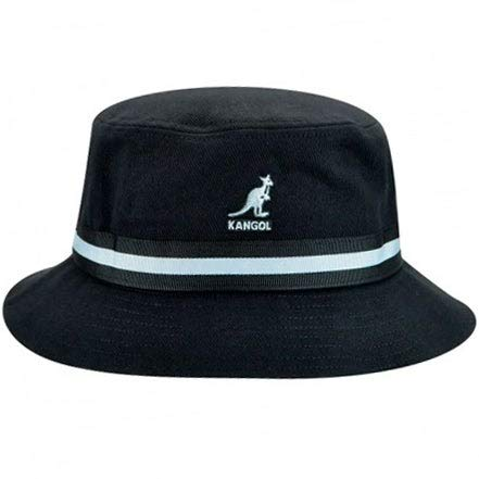 Kangol Stripe Lahinch Cappello a Falda Larga, Nero, L Unisex-Adulto