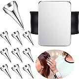 10 Pieces Hair Parting Rings Metal Hair Selecting Ring Hair Parting and...