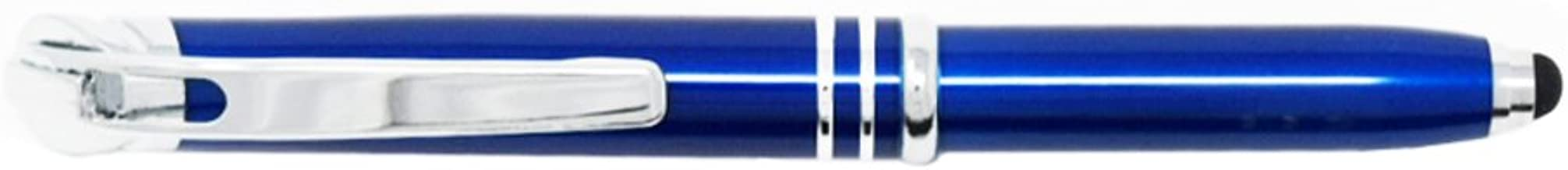 LED Lighted Tip Ballpoint Pen with Stylus (Blue)
