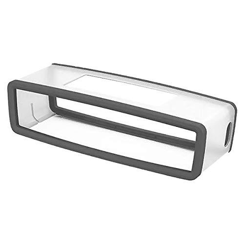 subtel® Tasche kompatibel mit Bose Soundlink Mini 2 Soundlink Mini II Silikon Schutzhülle Tasche Flip Cover Case Etui grau