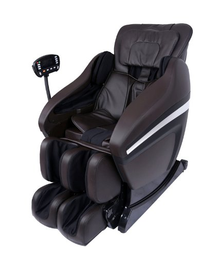 Full Body Zero Gravity Shiatsu Brown Massage Chair Recliner Soft 3D MP3 Arm Massage 02