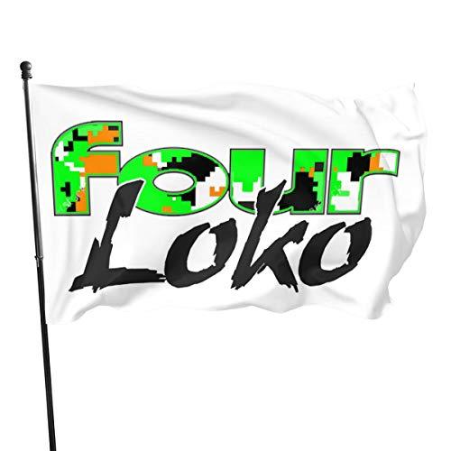 Qq15-kcdds-store ?Four Loko Home Decoration Flag Garden Flag Indoor Outdoor Flag 3x5 FT