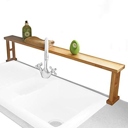 Woodquail Keuken Over Wastafel Rek Plank, Badkamer Opbergunit, Gemaakt van Natuurlijke Bamboe
