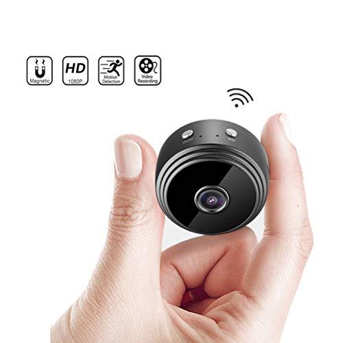 QXF-DSXT Mini WiFi Kamera 1080P HD-Wireless-Kamera Klein Micro Cam Bewegungserkennung Nachtsicht-Monitor-Sicherheits-Camcorder For Innen Und Außen (Color : With 64G TF Card)