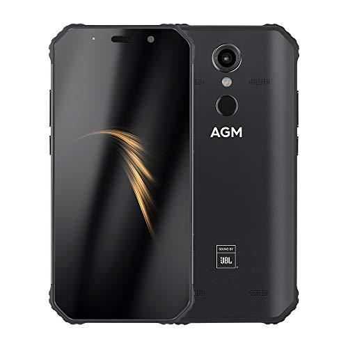 Handy, AGM A9 Smartphone SIM-Free Android Handys entsperrt, 5,99 Zoll Wassertropfen Vollbild, 5400mAh Akku, 12MP 16MP Kamera, Dual-SIM-Android 8.1 Oreo Telefon,AGM A9-4GB 64GB