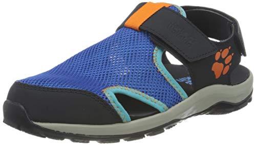Jack Wolfskin Outdoor Water Action Sandal K Sportsandale, Blue/orange, 33 EU