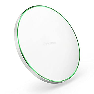 KEKLLE Qi Certified Fast Wireless Charger ST Solution NPO capacitor NO RADIATION (White)