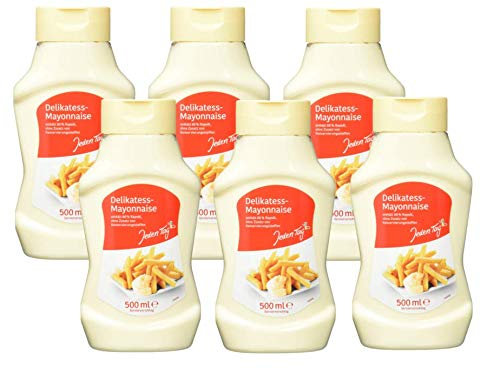 Jeden Tag Delikatessen Mayonnaise 80 %, 6-er Pack (6 x 500 ml)