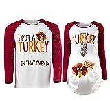 Detigee Women's Thanksgiving Pregnancy Shirt Turkey...