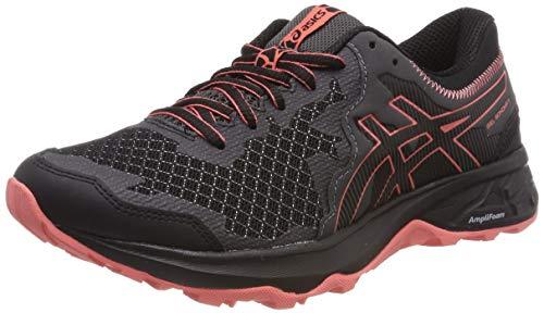 Asics Gel-Sonoma 4, Zapatillas de Running Mujer, Negro (Black/Papaya 001), 36 EU