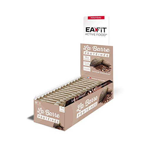EAFIT Chocolate Protein Bar - Display Box of 24 46g Bars - Available in 6 Flavours - Coated with Milk Chocolate - 16g of Protein per bar - only 5.5g of Fat - Low in Sugar - 12 Vitamins and Minerals