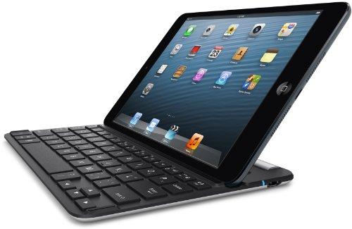 Belkin FastFit Bluetooth-Tastatur-Case für Apple iPad mini schwarz-silber, DE Layout