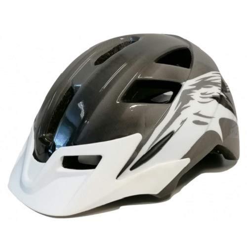 Mirage Casco de bicicleta Allround 58-65 cm, color negro y blanco