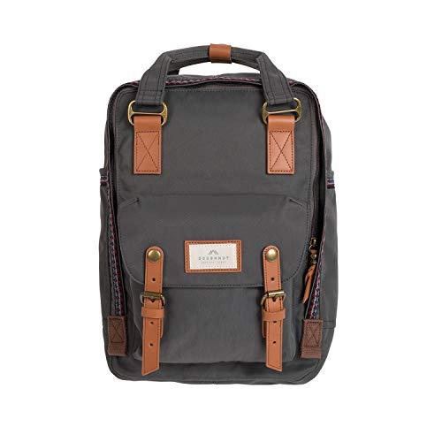 Doughnut MACAROON bo-he Rucksack Unisex 16L mit Laptopfach I Studenten-Rucksack funktionell & handgefertigt I ideal als Reise-Rucksack oder leichter City-Rucksack I Daypack (Mehrfarbig (Charcoal))