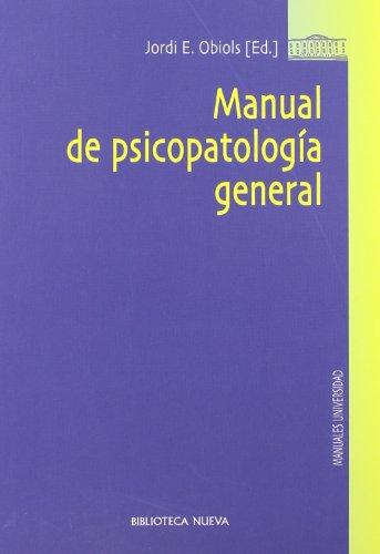 Manual de psicopatología general