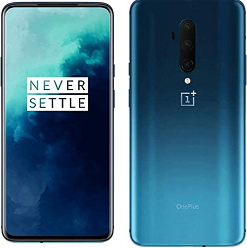 OnePlus 7T Pro Smartphone Haze Blue | 8 GB RAM + 256 GB Speicher | 16,9 cm AMOLED Display 90Hz Screen | Triple Kamera + Pop-up Kamera | Warp Charge 30 (Generalüberholt)