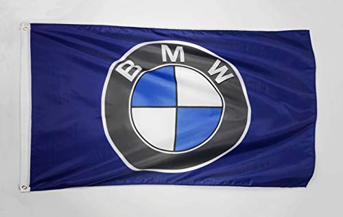 WHGJ Car Flag 3x5 FT Indoor Outdoor for BMW Racing Car Large Garage Decor Banner