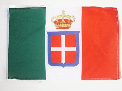 AZ FLAG Flagge KÖNIGREICH Italien MIT KRÖNT 45x30cm mit Kordel - ITALIENISCHE ALT Fahne 30 x 45 cm - flaggen Top Qualität