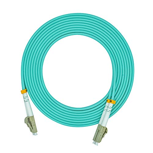 Jeirdus 2Meters 6ft LC to LC Duplex 50/125 10G OM3 Multi-Mode Fiber Optic Cable Jumper Optical Patch Cord LC-LC