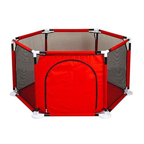 BDD Barandilla de la Cama Valla de Juego para Niños Interior de la Casa Baranda de Seguridad para Bebés Y Niños Pequeños Baranda de Seguridad Resistente a Roturas para Gatear - Rojo