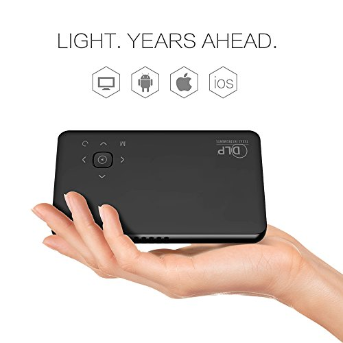 beawelle Full HD Mini proiettore DLP Beamer, Portable, Supporta 1080p HDMI USB SD VGA AV, per TV di iPhone Smartphone
