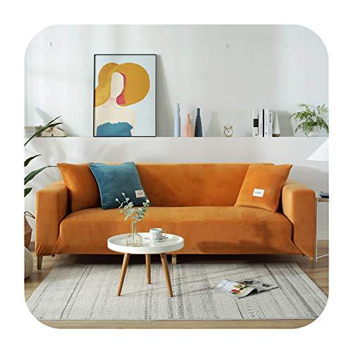 KASHINO Hochwertiger Samt-Sofabezug für Wohnzimmer, Couch, Schonbezug, Möbelschutz, Sofabezug, elastisch, 1/2/3/4-Sitzer, Stil3-1 Stück, 190-230 cm