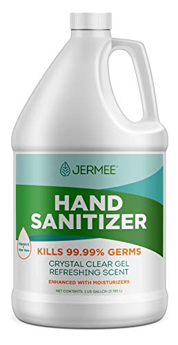 Jermee Moisturizing Hand Sanitizer Gel, 70% Alcohol - Kills...