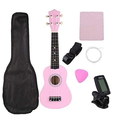 Ukelele De Concierto21 Pulgadas Ukelele Soprano Uke Instrumento Musical Con Bolsa De...