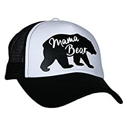6e0cea9833a Another super cute mama bear hat comes in black and white and hot pink and  white.
