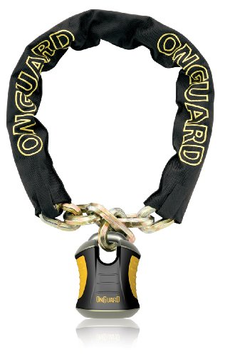 ONGUARD Beast Chain Lock with X2 Padlock (Black, 110 cm x 12 mm)