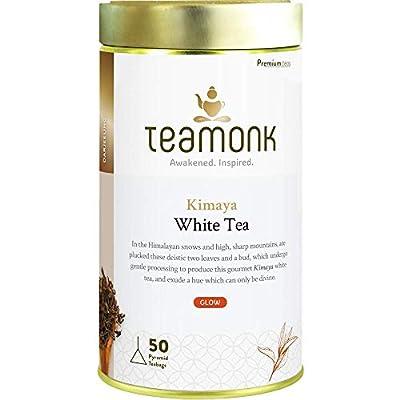 Teamonk Kimaya Darjeeling White Tea Bags - 50 Tea Bags | 100 % Pure Natural White Tea | Powerful Antioxidant Tea | Relaxation Tea | No Additives - 50 Tea Bags